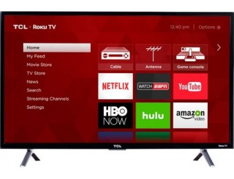 "$59 off TCL 32"" LED 3-Series 720p Smart HDTV Roku TV"