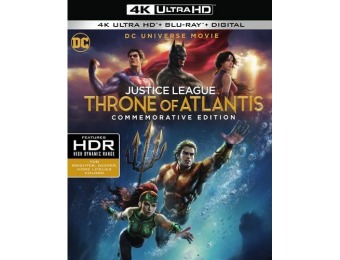 40% off DCU Justice League: Throne of Atlantis (4K Ultra HD Blu-ray)