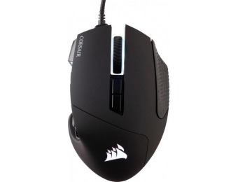 33% off CORSAIR Scimitar Pro Wired RGB MMO Gaming Optical Mouse