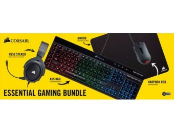 $20 off CORSAIR Essential Wired Gaming Bundle