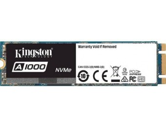 $170 off Kingston 960GB PCI Express 3.0 x2 (NVMe) SSD