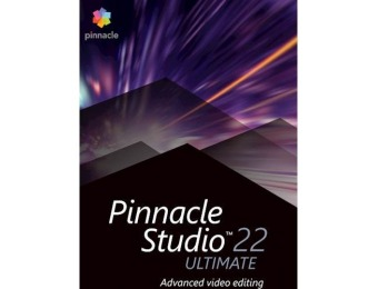 $70 off Pinnacle Studio 22 Ultimate Video Editing Software - Windows