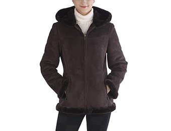 74% off BGSD Women's Faux Shearling Parka Jacket with Hood