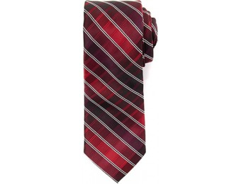 80% off Mens Architect Rigley Checkered Print Tie, Purple