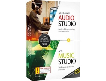 67% off Sound Forge Audio Studio 12 and ACID Music Studio 10 Bundle