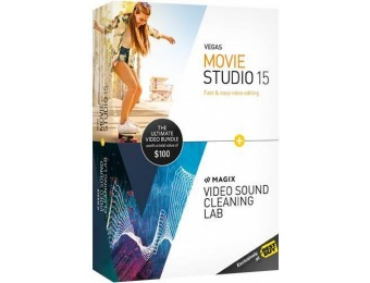 60% off VEGAS Movie Studio 15 & MAGIX Sound Cleaning Lab Ultimate