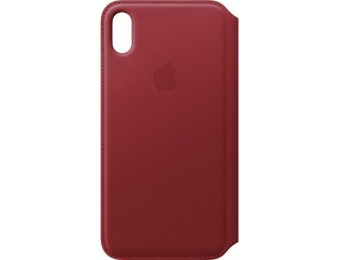 $35 off Apple iPhone XS Max Leather Folio - (PRODUCT)RED