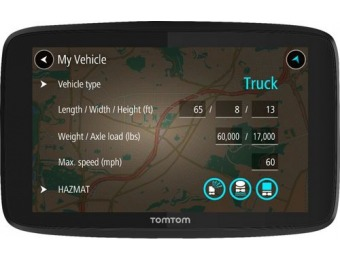 "$80 off TomTom TRUCKER 620 6"" GPS with Bluetooth, Lifetime Updates"