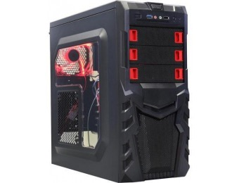 46% off LOGISYS Computer CS380RD Black / Red Computer Case