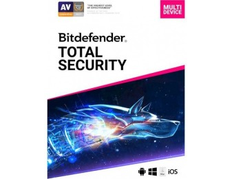 $55 off Bitdefender Total Security 2019 (5-Device) 1-Year Subscription