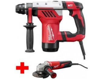 "$159 off Milwaukee 13A 1-1/8"" SDS-Plus Rotary Hammer w/ Angle Grinder"
