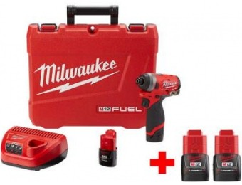"$79 off Milwaukee M12 Brushless Cordless 1/4"" Hex Impact Driver Kit"