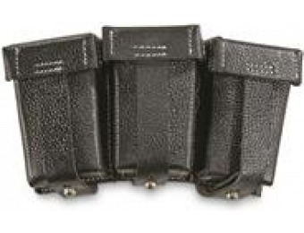73% off German Military WWII 98K Leather Triple Mag Pouch