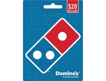 10% off Domino's Pizza $20 Gift Card