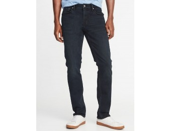 50% off Slim 24/7 Built-In Flex Blue Black Jeans for Men