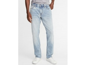 50% off Straight Built-In Flex Jeans for Men