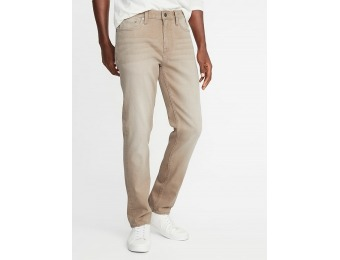 50% off Slim Built-In Flex Khaki-Wash Jeans for Men