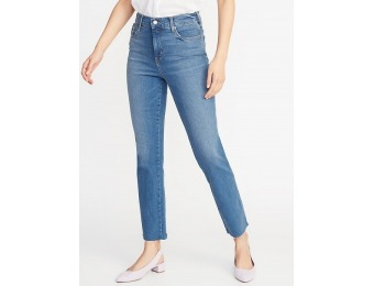 50% off High-Rise Secret-Slim Pockets Flare Ankle Jeans