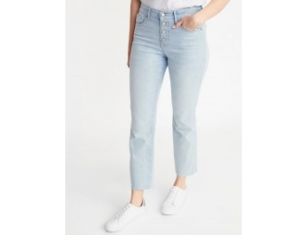 50% off Secret-Slim Button-Fly Flare Ankle Rockstar Jeans