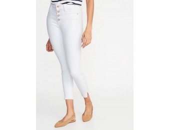 50% off Secret-Slim Button-Fly Rockstar Raw-Edge Ankle Jeans