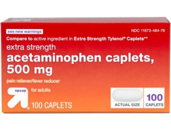 64% off Up&Up Acetaminophen Extra Strength 100ct
