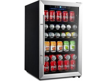$235 off Kalamera 150-Can Beverage Refrigerator Stainless Steel