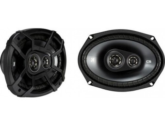 "55% off KICKER CS Series 6"" x 9"" 3-Way Car Speakers (Pair)"