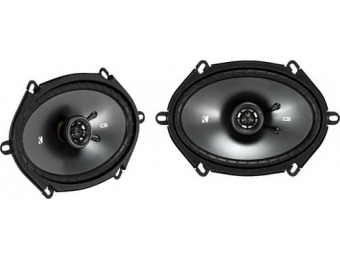 "55% off KICKER CS Series 6"" x 8"" 2-Way Car Speakers (Pair)"