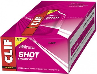 50% off Clif Bar Shot Gel - Razz (24 Packets)