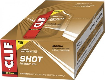 50% off Clif Bar Shot Gel with Caffeine - Mocha (24 Packets)