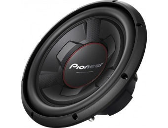 "55% off Pioneer 12"" Single-Voice-Coil 4-Ohm Subwoofer"