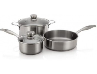 $94 off Frigidaire 5-Piece Stainless Steel Cookware Set