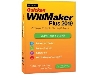 $32 off Quicken WillMaker Plus 2019 - Mac|Windows