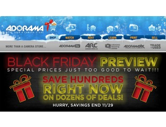 Adorama Black Friday Preview - Season Low Prices on Many Items