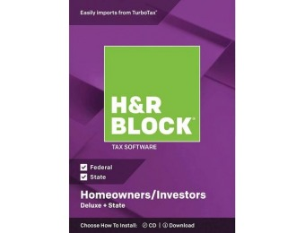 50% off H&R Block Deluxe + State Tax Software - Mac|Windows