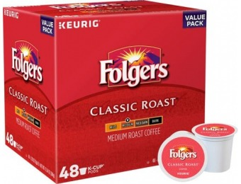 21% off Folger's Classic Roast K-Cup Pods (48-Pack)