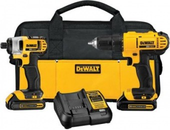 $50 off DeWalt 20-Volt MAX Drill/Driver and Impact Combo Kit