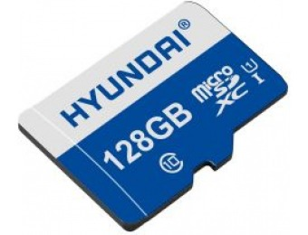 59% off Hyundai 128 GB microSDXC Flash Memory Card