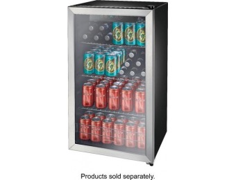$170 off Insignia 115-Can Beverage Cooler - Stainless steel