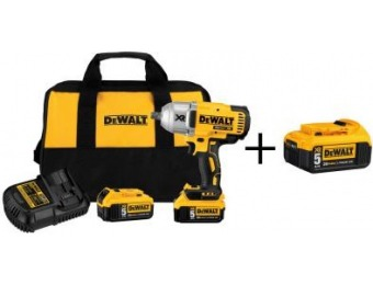 "$350 off DeWalt 20-Volt MAX XR 1/2"" Cordless Impact Wrench Kit"