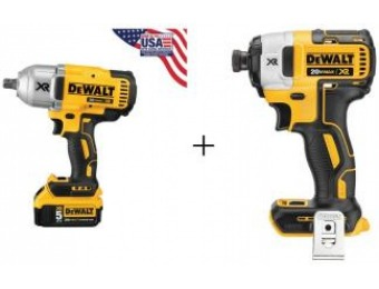 "$189 off DeWalt 1/2"" Cordless Impact Wrench Kit with Detent Anvil Driver"