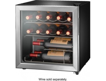 $40 off Insignia 14-Bottle Wine Cooler - Stainless steel