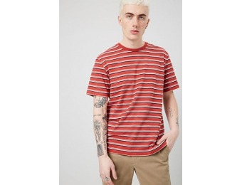 53% off Multistriped Crew Neck Tee