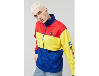 50% off Colorblock Flag Graphic Jacket