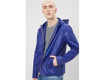 50% off Hooded Zip-Front Raincoat