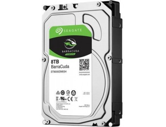 $149 off Seagate BarraCuda 8TB 256MB Cache Internal Hard Drive