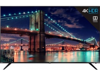 "$500 off TCL 75"" LED 6 Series Smart 4K UHD TV with Roku TV"