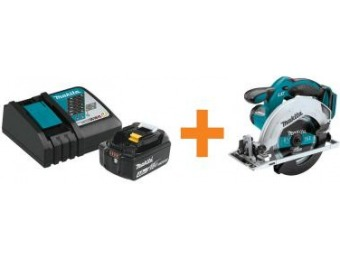 $119 off Makita 18V LXT Lithium-Ion Battery w/ Circular Saw