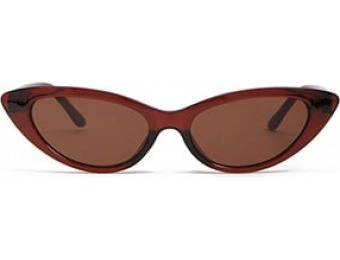 83% off Flat-Lens Cat-Eye Sunglasses