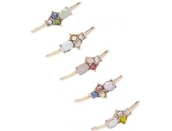 83% off Multicolor Faux Gem Ring Set